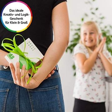 CUBIDI® Magic Snake mit 48 Blöcke - Knobelspiele für Kinder und Erwachsene - ideal als Mitgebsel Kindergeburtstag oder Kindergeburtstag Gastgeschenke oder kleine Geschenke für Kinder (Blau) - 8