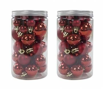 Decoline Weihnachtskugeln Set (B) Ø 2cm, 3cm und 4cm - 78 Stück rot - 1