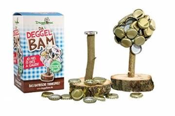 Deggelbam das Original 2.0 – Genialer Baum mit extra starkem Magnet für 50 Kronkorken als witziges Geschenk für Männer oder Partyraum-Ausstattung & Bardeko – Handgemacht in Bayern - 1