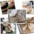 Donken Jute Tischläufer Juteband 30cm breit Tischband Natur Meterware Jutestoff Vintage Tischdeko Hochzeitsdeko für Hochzeit Festival Weihnachten Dekoration, 30cmx10m - 4