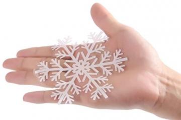 EDOTON Schneeflocken Fensterdeko Set Fensterbilder Weihnachten Selbstklebend Abnehmbare PVC Aufkleber Winter Dekoration Fensteraufkleber 6 Blatt - 9