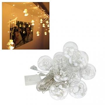 Egosy LED Lichtervorhang Fenster Lichterkettenvorhang Indoor Vorhang-Licht Für Weihnachten, Neujahr, Partei, Hochzeit, Daheim Dekoration - 2