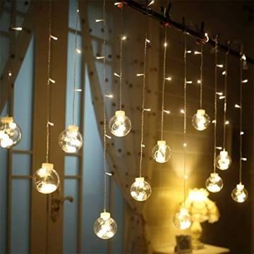 Egosy LED Lichtervorhang Fenster Lichterkettenvorhang Indoor Vorhang-Licht Für Weihnachten, Neujahr, Partei, Hochzeit, Daheim Dekoration - 1