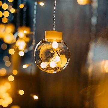 Egosy LED Lichtervorhang Fenster Lichterkettenvorhang Indoor Vorhang-Licht Für Weihnachten, Neujahr, Partei, Hochzeit, Daheim Dekoration - 5
