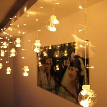 Egosy LED Lichtervorhang Fenster Lichterkettenvorhang Indoor Vorhang-Licht Für Weihnachten, Neujahr, Partei, Hochzeit, Daheim Dekoration - 7