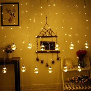 Egosy LED Lichtervorhang Fenster Lichterkettenvorhang Indoor Vorhang-Licht Für Weihnachten, Neujahr, Partei, Hochzeit, Daheim Dekoration - 8