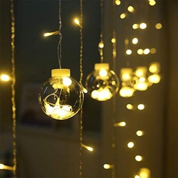 Egosy LED Lichtervorhang Fenster Lichterkettenvorhang Indoor Vorhang-Licht Für Weihnachten, Neujahr, Partei, Hochzeit, Daheim Dekoration - 9