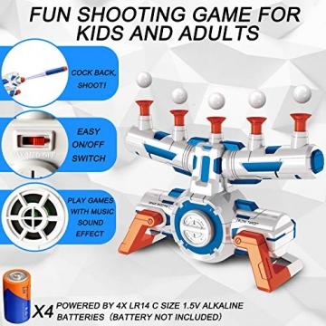 Elektrische Hover Zielscheibe für Nerf Pistole, Digitales Ball Ziel mit 1 Spielzeug Waffe, 10 schwimmende Kugel, 40 Schaumstoffpfeile, Kinder Gewehr mit Munition, Schießspiel Geschenk 6-15 Jahre Junge - 3