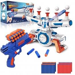 Elektrische Hover Zielscheibe für Nerf Pistole, Digitales Ball Ziel mit 1 Spielzeug Waffe, 10 schwimmende Kugel, 40 Schaumstoffpfeile, Kinder Gewehr mit Munition, Schießspiel Geschenk 6-15 Jahre Junge - 1