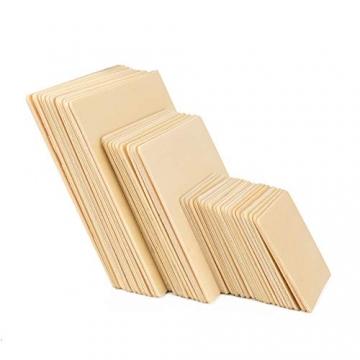 ewtshop® 40 Holz-Quadrate, 3 Größen: 10 cm + 8 cm + 5 cm, für Bastelarbeiten, als Dekoration, 2mm Dicke - 3