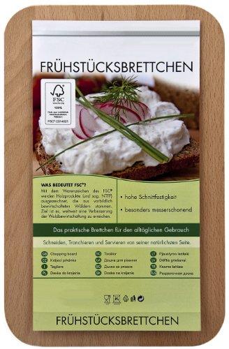 FABRIKSTORES Frühstücksbrettchen/Frühstücksbrett mit Gravur Opa ist der Beste als Geschenk - Buchenholz - Abgerundete Ecken - Geschenkidee ideal für Vatertag oder andere Anlässe - Gute Qualität - 2
