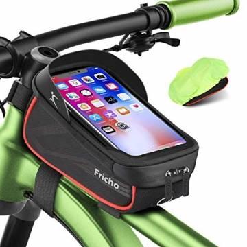 Fahrrad Rahmentasche Wasserdichte Fahrrad Handytasche Touchscreen Oberrohrtasche fahrrad geschenk teenager geschenke jungen geeignet für Smartphones unter 6,5 Zoll geschenke für männer papa geschenk - 1