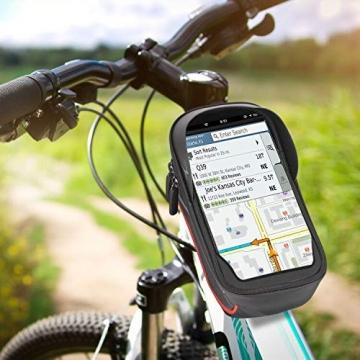 Fahrrad Rahmentasche Wasserdichte Fahrrad Handytasche Touchscreen Oberrohrtasche fahrrad geschenk teenager geschenke jungen geeignet für Smartphones unter 6,5 Zoll geschenke für männer papa geschenk - 7