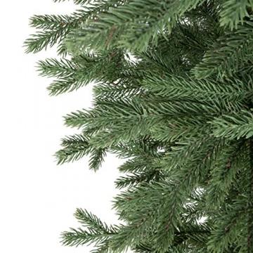 FairyTrees künstlicher Weihnachtsbaum ALPENTANNE Premium, Material Mix aus Spritzguss & PVC, Ständer aus Holz, 180cm, FT17-180 - 2