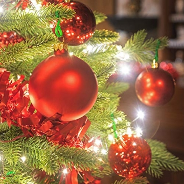 FairyTrees künstlicher Weihnachtsbaum ALPENTANNE Premium, Material Mix aus Spritzguss & PVC, Ständer aus Holz, 180cm, FT17-180 - 4