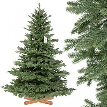 FairyTrees künstlicher Weihnachtsbaum ALPENTANNE Premium, Material Mix aus Spritzguss & PVC, Ständer aus Holz, 180cm, FT17-180 - 1