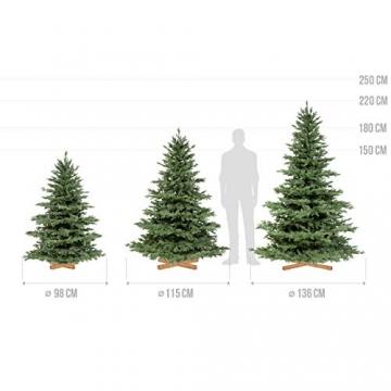 FairyTrees künstlicher Weihnachtsbaum ALPENTANNE Premium, Material Mix aus Spritzguss & PVC, Ständer aus Holz, 180cm, FT17-180 - 5