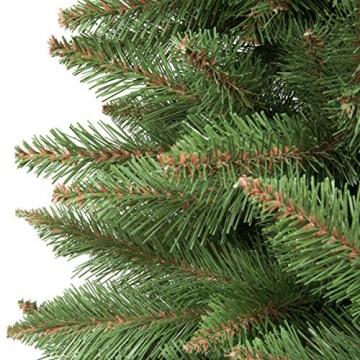FairyTrees künstlicher Weihnachtsbaum FICHTE Natur, Baumstamm grün, Material PVC, inkl. Holzständer, 180cm - 2