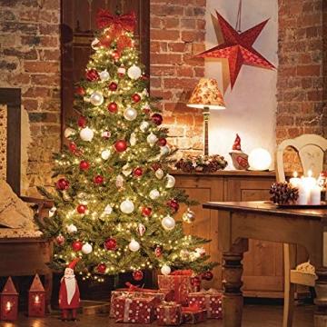 FairyTrees künstlicher Weihnachtsbaum FICHTE Natur, Baumstamm grün, Material PVC, inkl. Holzständer, 180cm - 3