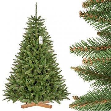 FairyTrees künstlicher Weihnachtsbaum FICHTE Natur, Baumstamm grün, Material PVC, inkl. Holzständer, 180cm - 1