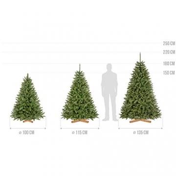 FairyTrees künstlicher Weihnachtsbaum FICHTE Natur, Baumstamm grün, Material PVC, inkl. Holzständer, 180cm - 5