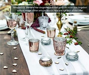 Feste Feiern Teelichthalter Rosso 4er Set Glas Orange Altrosa Rose´ Kerzenhalter Deko Windlicht farblich changierend Tischdeko Tafel - 9