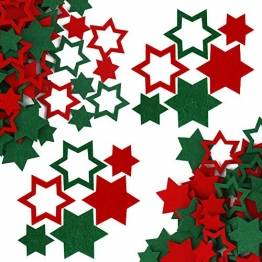 FHzytg 120 Stück Filz Sterne, Tischdeko Weihnachten Filz Weihnachten Sterne Filz, Filz Sterne Weihnachten Streudeko Sterne Filz, Weihnachtsdeko Tischdeko Streudeko Sterne Filz Weihnachten - 1