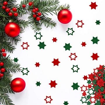 FHzytg 120 Stück Filz Sterne, Tischdeko Weihnachten Filz Weihnachten Sterne Filz, Filz Sterne Weihnachten Streudeko Sterne Filz, Weihnachtsdeko Tischdeko Streudeko Sterne Filz Weihnachten - 6