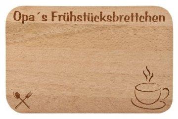 Frühstücksbrettchen/Frühstücksbrett mit Gravur für die Opa als Geschenk - aus Holz - Geschenkidee ideal zum Geburtstag oder zu Weihnachten - 1
