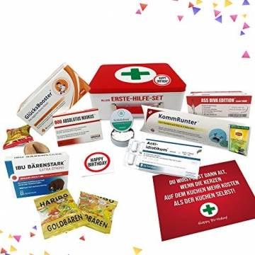 Geburtstagsgeschenk - Aller Erste Hilfe Set Geschenk-Box, witziger Sanikasten   Das Original   Scherzartikel zum Geburtstag (Deutsch) - 1