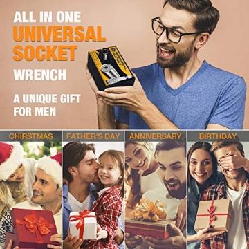 Geschenke für Männer Papa Universal Nuss - Werkzeug Handwerker Geschenke Gadgets für Männer Steckschlüssel, Männer Geschenke Weihnachten Geburtstag, Valentinstag Männertag Geschenk, Vatertagsgeschenk - 6