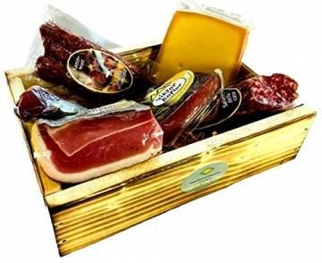 """Geschenkekiste mit Südtiroler Spezialitäten die 6er """"Marende"""" - 1"""