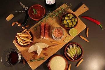Geschenkkorb Olé mit spanischen Delikatessen I Präsentkorb gefüllt mit ausgesuchten Tapas-Klassikern & Rotwein aus Spanien - 6