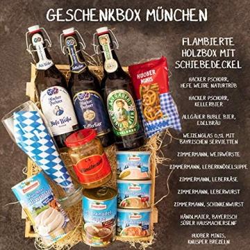 Geschenkset München   Großer Bayern Geschenkkorb mit Bier, Bierglas & bayrischen Spezialitäten   Bayerisches Geschenk Set gefüllt für Frauen & Männer   Typisch deutscher Wurst Präsentkorb - 2