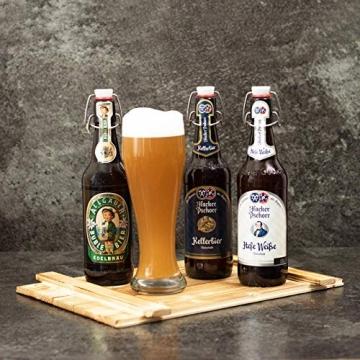 Geschenkset München   Großer Bayern Geschenkkorb mit Bier, Bierglas & bayrischen Spezialitäten   Bayerisches Geschenk Set gefüllt für Frauen & Männer   Typisch deutscher Wurst Präsentkorb - 4