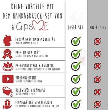 GipsME 3D Handabdruck Set für Paare - Alginat Gipsabdruckset - Partner und Pärchen Geschenke für Erwachsene als Muttertag, Hochzeitstag, Jahrestag-Geschenk für Sie und Ihn - 5