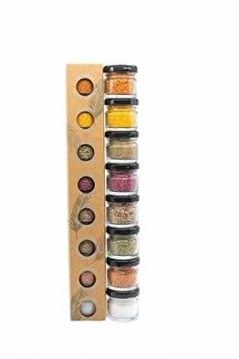 GLOSA MARINA Gourmet Salze, Salz aus Mallorca als ideales Gewürze Geschenkset/Salzset besondere Geschenke aus Meersalz, 8 x 25 g, 200 g - 1