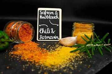 GLOSA MARINA Gourmet Salze, Salz aus Mallorca als ideales Gewürze Geschenkset/Salzset besondere Geschenke aus Meersalz, 8 x 25 g, 200 g - 4