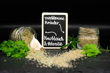 GLOSA MARINA Gourmet Salze, Salz aus Mallorca als ideales Gewürze Geschenkset/Salzset besondere Geschenke aus Meersalz, 8 x 25 g, 200 g - 5