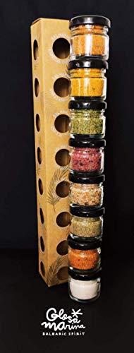 GLOSA MARINA Gourmet Salze, Salz aus Mallorca als ideales Gewürze Geschenkset/Salzset besondere Geschenke aus Meersalz, 8 x 25 g, 200 g - 8