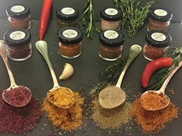 GLOSA MARINA Gourmet Salze, Salz aus Mallorca als ideales Gewürze Geschenkset/Salzset besondere Geschenke aus Meersalz, 8 x 25 g, 200 g - 9