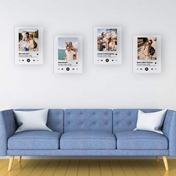GRAVURZEILE Song Cover Glas Foto mit Bild + Titel und Musikalbum - Geschenk für Sie & Ihn - Geschenk für Frauen & Männer - Personalisierte Geschenke - 3