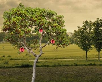 Große Weihnachtskugeln Christbaumkugel rot glänzend 25 cm Durchmesser. Hochwertig für Innen und wetterfest für Aussenbereich. Mit Stahlring zur einfachen und wiederverwendbaren Befestigung - 3