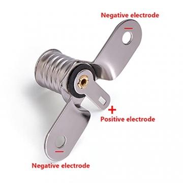 GutReise E10 LED Lampen Lampen Sockel, 10 Stück Schraub Kleinbirnen Halter für Home Experiment Circuit Elektrische Testzubehör - 3
