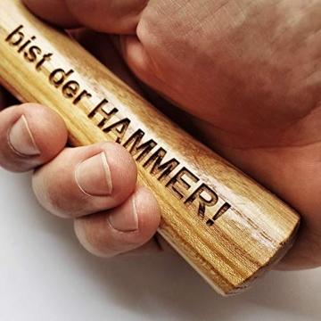 Hammer mit Gravur: OPA - Du bist der HAMMER! | deutsches Qualitätswerkzeug in Berlin graviert | verdammt praktisches Geschenk für den besten Großvater der Welt - 3