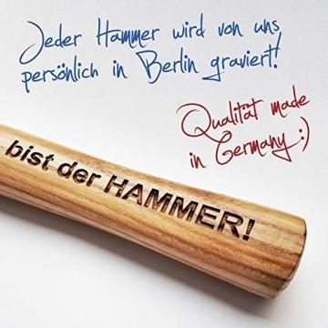 Hammer mit Gravur: OPA - Du bist der HAMMER! | deutsches Qualitätswerkzeug in Berlin graviert | verdammt praktisches Geschenk für den besten Großvater der Welt - 4
