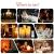 HANZIM LED Kerzen,Flammenlose Kerzen 250 Stunden Dekorations-Kerzen-Säulen im 5er Set.Realistisch flackernde LED-Flammen 10-Tasten Fernbedienung mit 24 Stunden Timer-Funktion (Ivory) - 4
