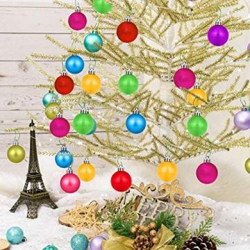 HBHS Christbaumkugeln, Suddefr Weihnachtskugel, 99 Teilig, 3CM, Weihnachtsbaumschmuck, Kunststoff, Baumschmuck für Urlaub, Hochzeit, Partydekoration. - 6