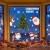 heekpek 3 Sätze Fensterbilder Weihnachten Fensterbilder Winter Wiederverwendbar Schneeflocken Fensteraufkleber Statisch Selbstklebend Wand Aufkleber Spähen des Elche Süße Weihnachtsmann Türaufkleber - 1