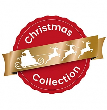 HEITMANN DECO 21er Set Glaskugeln+ Baumspitze - Weihnachtsbaumschmuck zum Aufhängen - Christbaumkugeln - Rot - Glitzer - 5
